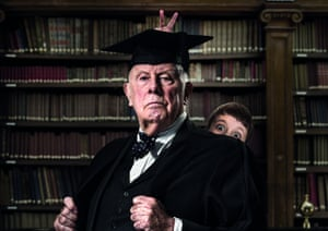 Richard Wilson's disgruntled headmaster faces a difficult last day – and a role in the riotous school play – in Forty Years On.