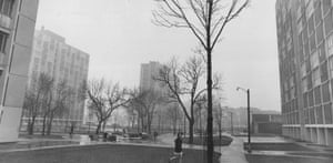 A girl walks through Regent Park in 1968, when hopes for the low-cost housing project had turned sour.
