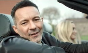 rhodri gigs drives sports car in advert