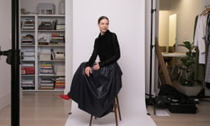 Bianca Spender in her studio three days before her fashion week 2018 show