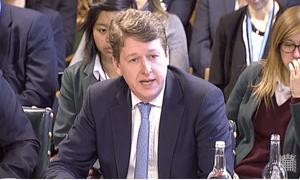 Robin Walker giving evidence to European scrutiny committee.