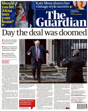 Guardian front page, Wednesday 9 October 2019