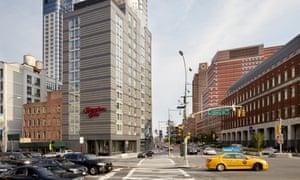 Hotel exterior of the Hampton Inn Brooklyn Downtown, New York