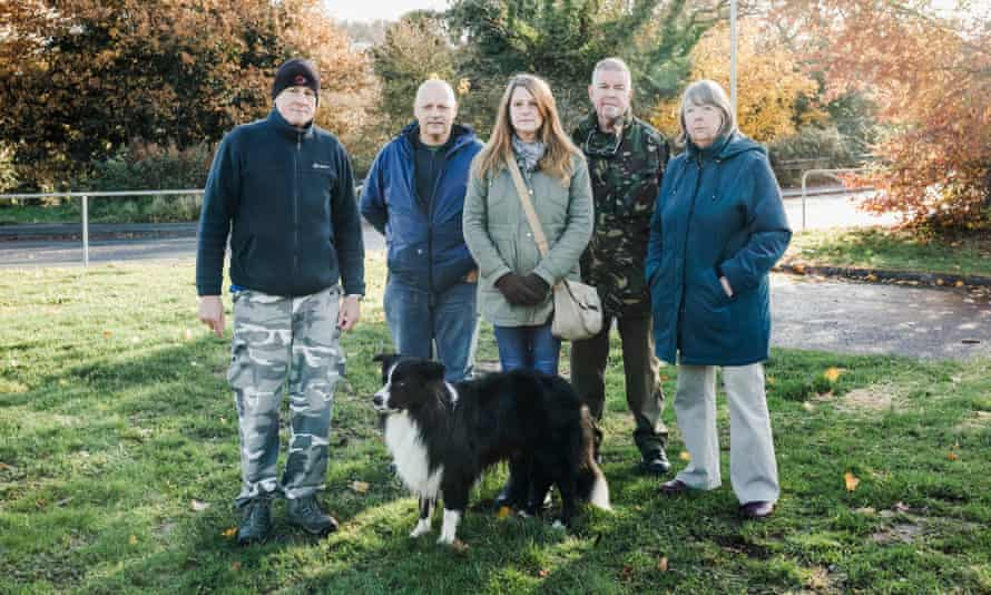 Ernesettle residents Chris Kelland, Neil Macfarlane, Flo Vickery, Ray Morton and Alison Sargent.