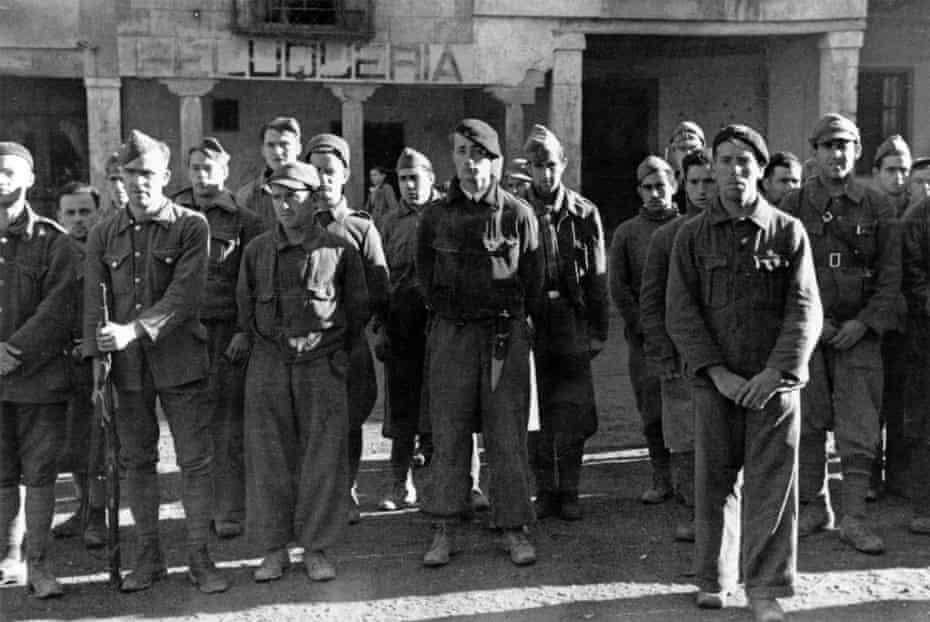 The British Battalion of the XV International Brigade in Spain during the civil war, circa 1937.