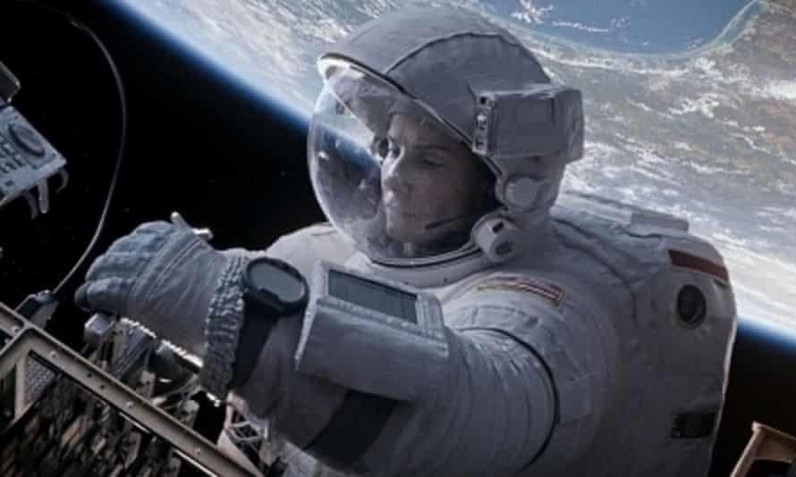 Lost in space: Sandra Bullock stalker free in Gravity.