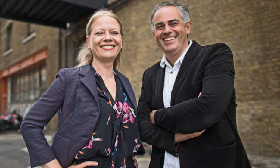 Siân Berry and Jonathan Bartley, co-leaders of the Green party
