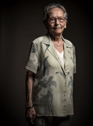 Laura Benesey, 92, poses for a portrait