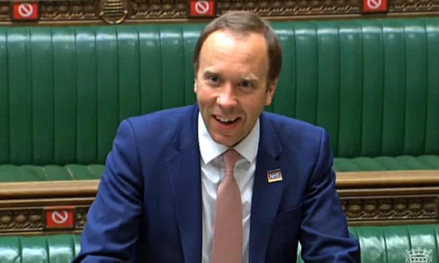 The health secretary, Matt Hancock, makes a statement on Monday to the Commons about Covid.
