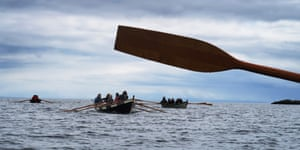 Rowing from the island of Scalpaigh to The Gloraig Islands