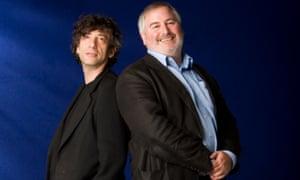 Neil Gaiman and Chris Riddell, pictured at the 2012 Edinburgh international book festival.