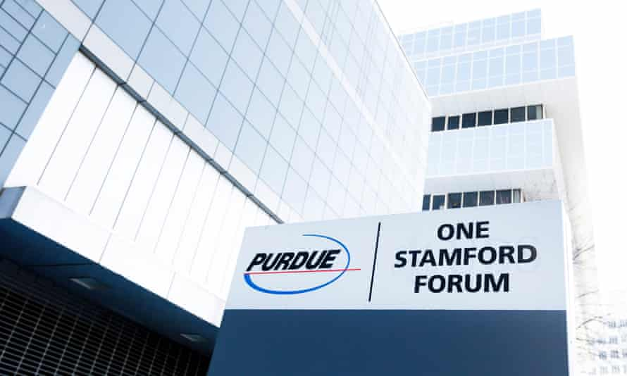 Purdue Pharma's Stamford, Connecticut, headquarters. The company is under investigation over its alleged role in the US opioid crisis.