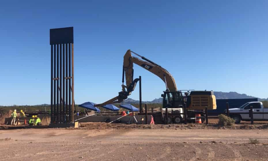 Border wall construction at the Organ Pipe Cactus national monument.