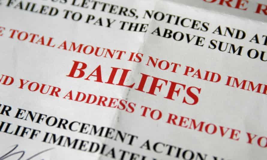 Bailiffs warning letter