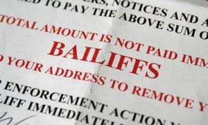 Bailiffs' letter that send alarm bells ringing.