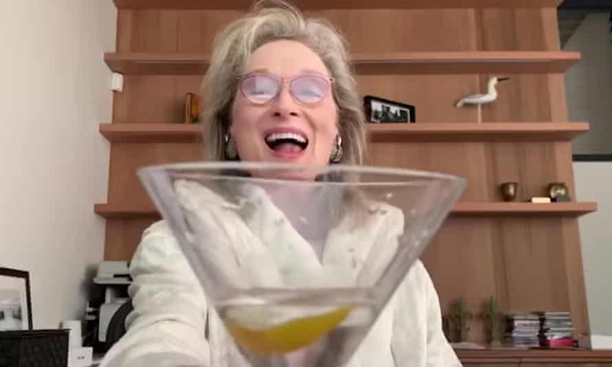 Meryl Streep celebrates Sondheim in her bathrobe.