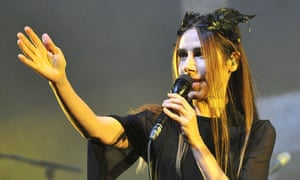 Both admirable and thrilling … PJ Harvey on stage.