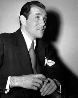 Casting a long shadow … Benjamin 'Bugsy' Siegel poses after his arrest in Los Angeles in 1941.