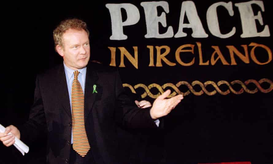 Martin McGuinness during a press conference in February 1998