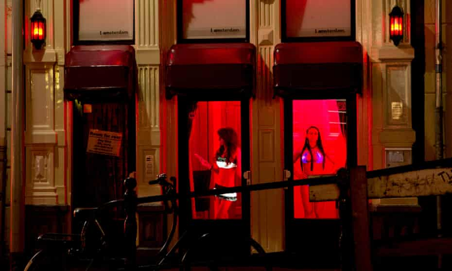 A brothel in the red light district of Amsterdam, the Netherlands.