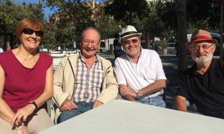 Laura Jiménez, Paco Arias, Pepe Martínez and Miguel Salas.