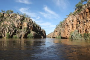 The imposing sandstone cliff faces of Katherine Gorge in Nitmiluk National Park remind you of your small place in the world.