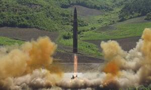 Hwasong-14 intercontinental ballistic missile.
