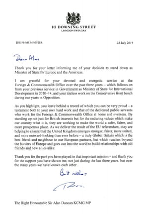 May's letter to Duncan