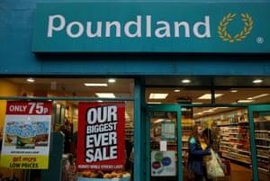 A branch of Poundland in Altrincham last year