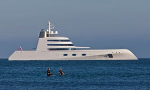 Motor Yacht A designed by Philippe Starck and owned by Russian billionaire Andrey Melnichenko.