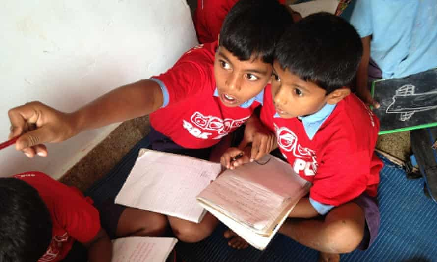 Children in India are being educated with the help of the 40K Group, an Australian social enterprise