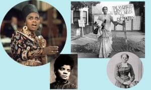 Miriam Makeba, Ida B Wells, Jayaben Desai and Harriet Tubman.