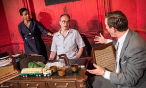 An inquest … Rachel Handshaw (Edna), Jeremy Drakes (Paul) and Oliver Le Sueur (Philip) in Finishing the Picture.