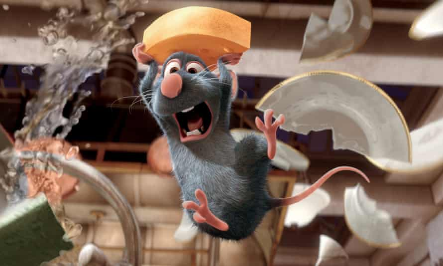 The character Remy in a scene from the film Ratatouille