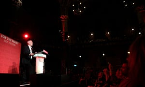 Jeremy Corbyn speaks at the final rally of the campaign at Union Chapel in Islington on Wednesday night.