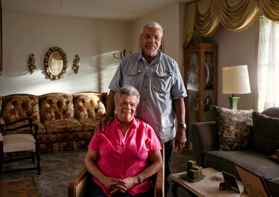 Ted and Helen Poydras inside their home.