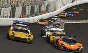 Gran Turismo Sport – these are virtual cars lining up on the Northern Ireland Speedway – but the drivers could go on to become genuine real-world competitors