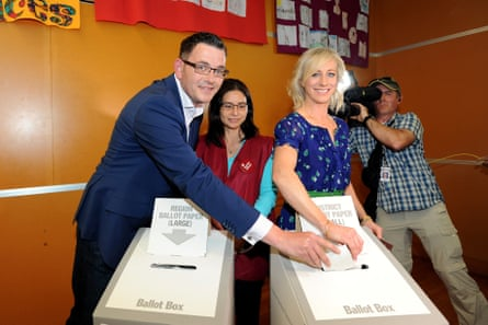 Daniel Andrews and his wife Catherine