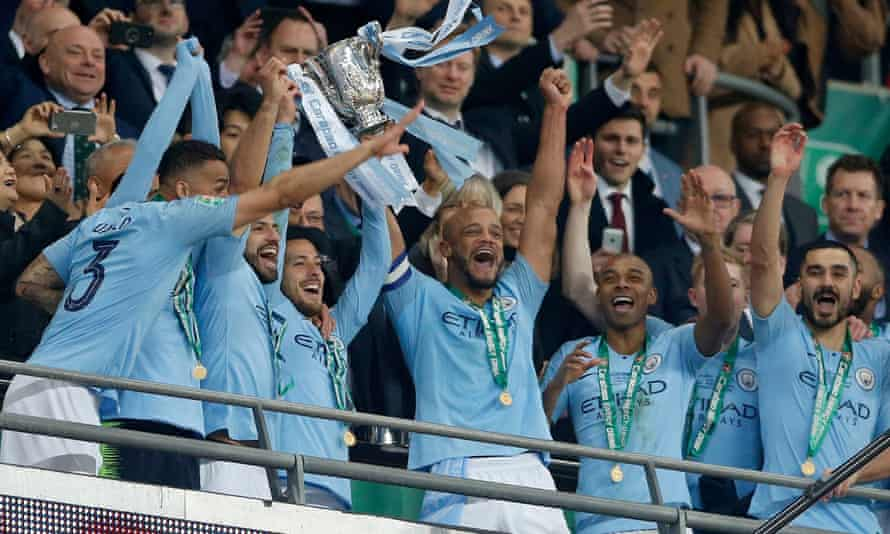 Manchester City after Carabao Cup final win over Chelsea