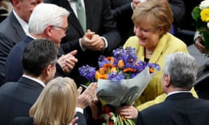 Angela Merkel congratulates Steinmeier
