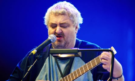 Daniel Johnston performing at the All Tomorrow's Parties festival in Minehead, Somerset, 2010.