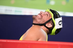 Kurt Fearnley after winning the silver medal in the men's T54 1,500m