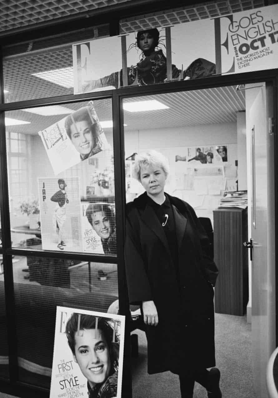 Brampton in her Elle office in 1985.
