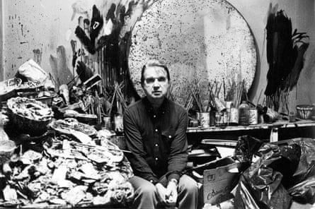Francis Bacon at his studio, 1980.