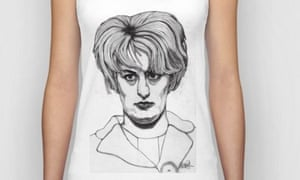 A T-shirt with Myra Hindley's image on it