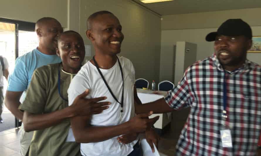 Nigerian Scrabble team with Wellington Jighere
