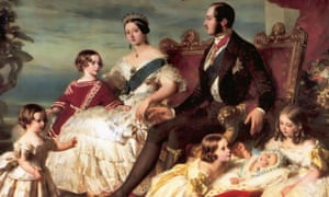 detail from Franz Xaver Winterhalter's portrait of Queen Victoria, Prince Albert and their children.