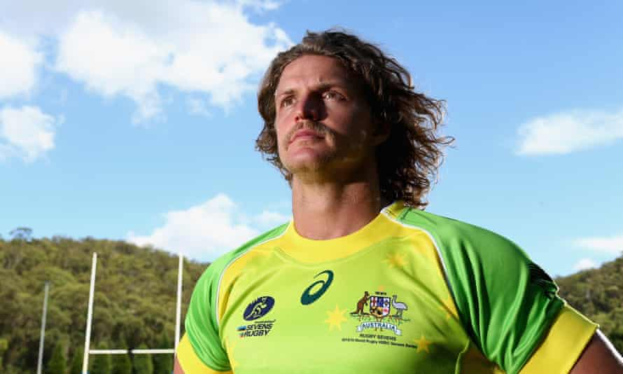 Nick Cummins poses for a portrait during an Australian Sevens training session at the Sydney Academy of Sport.