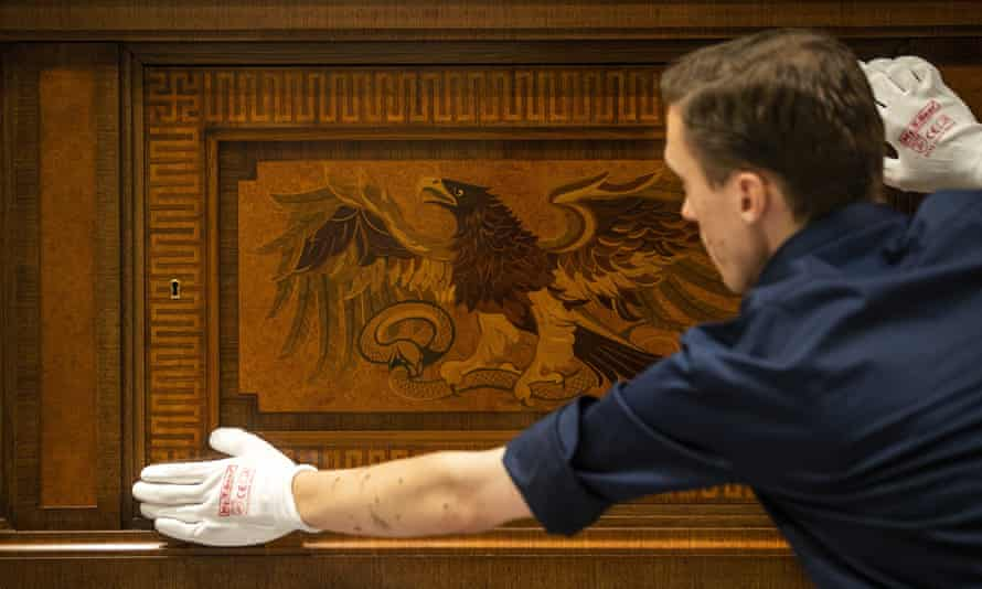 A sideboard once owned by Adolf Hitler goes on display at Den Bosch's Design Museum.