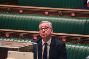 Michael Gove in the Commons this afternoon.